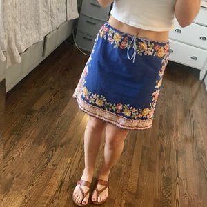 Blue floral vintage skirt
